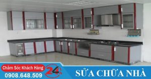 Nhận làm tủ bếp nhôm kính tại HCM