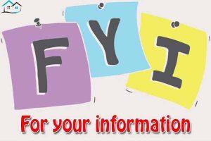 FYI là gì? Ý nghĩa của cụm từ FYI