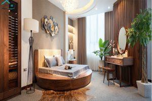 Mẫu phòng ngủ đẹp cho người thích gam màu trầm