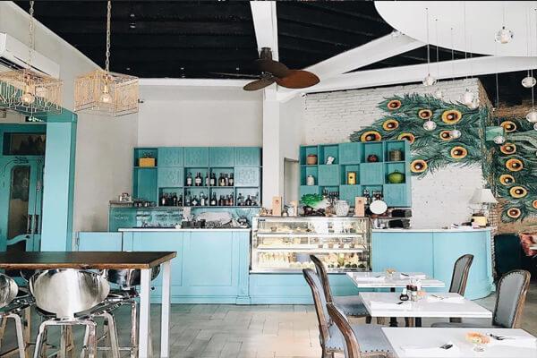 Phông nền quán cà phê nhẹ nhàng sang trọng