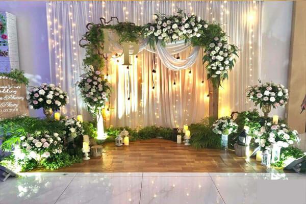 Background đẹp thiết kế trang trí cho đám cưới