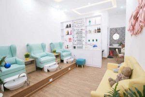 Thiết kế tiệm nail và spa mang xu hướng nhẹ nhàng, trẻ trung